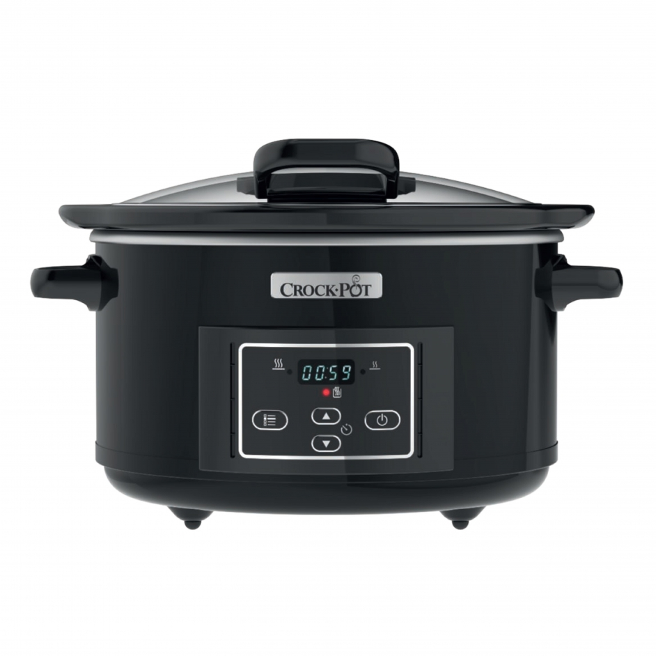 Crock-Pot Slow Cooker Black 5L Hinged Lid CR052