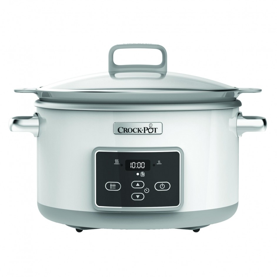 Crock-Pot DuraCeramic Sauté Slow Cooker White 4,7L