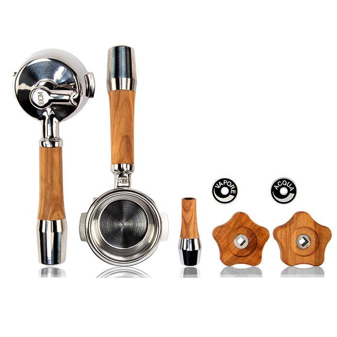 ECM ECM 5 delige olijfhouten accessoire set (draaiknop)